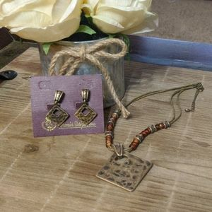 Premier Jewelry clip on earrings and necklace